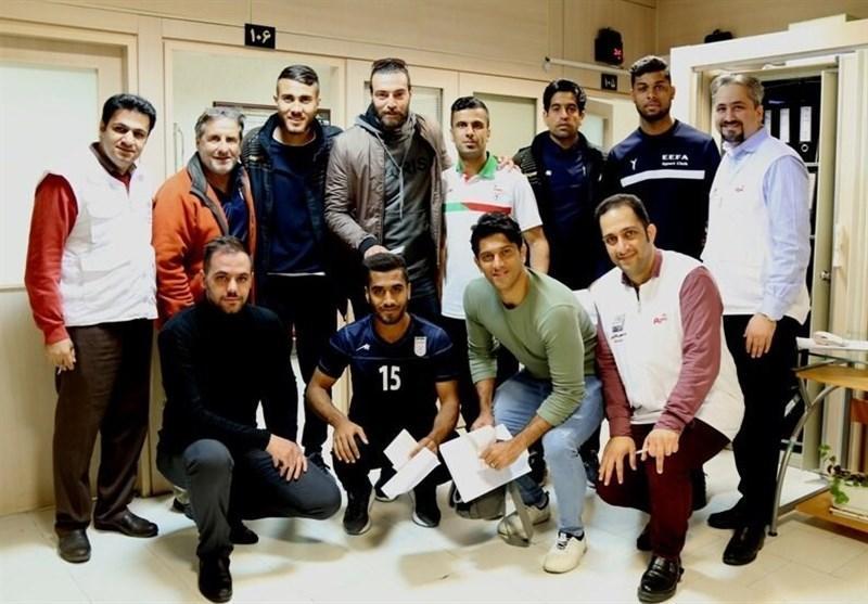 معاینه ملی پوشان فوتبال ساحلی در فدراسیون پزشکی ورزشی