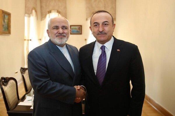 وزاری خارجه ترکیه و ایران ملاقات و تبادل نظر کردند