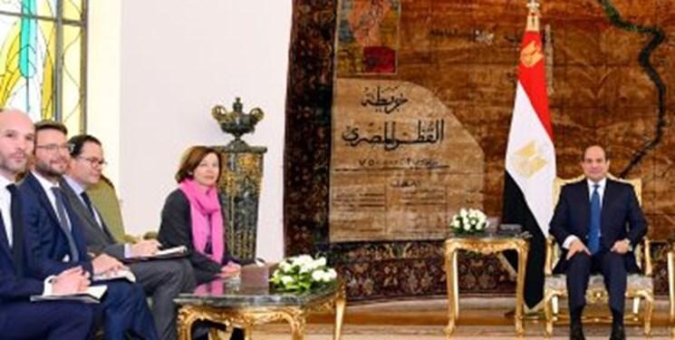 آنالیز تحولات منطقه در ملاقات وزیر دفاع فرانسه با رئیس جمهور مصر
