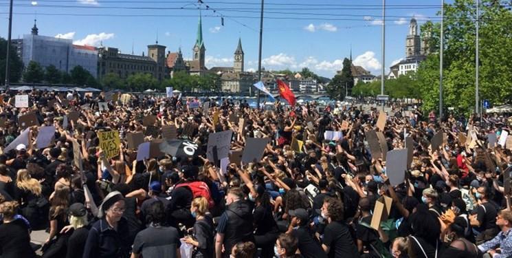تظاهرات 10 هزار نفری ضد نژادپرستی در زوریخ