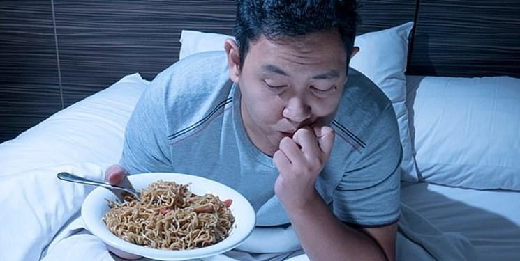 هشدار: قبل از خواب غذا نخورید