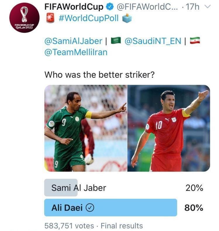 (عکس) علی دایی یا سامی الجابر؛ نتیجه نظرسنجی معین شد