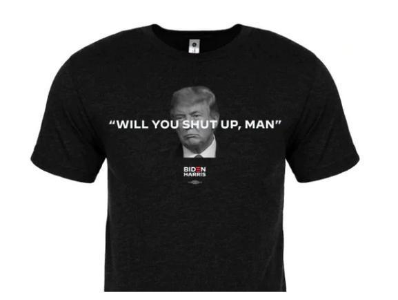 فروش تی شرت های خفه می شوی مرد؟ از سوی ستاد انتخاباتی بایدن