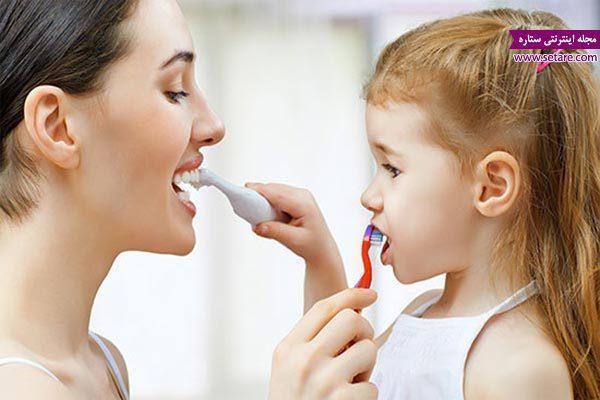 آموزش مسواک زدن به بچه ها