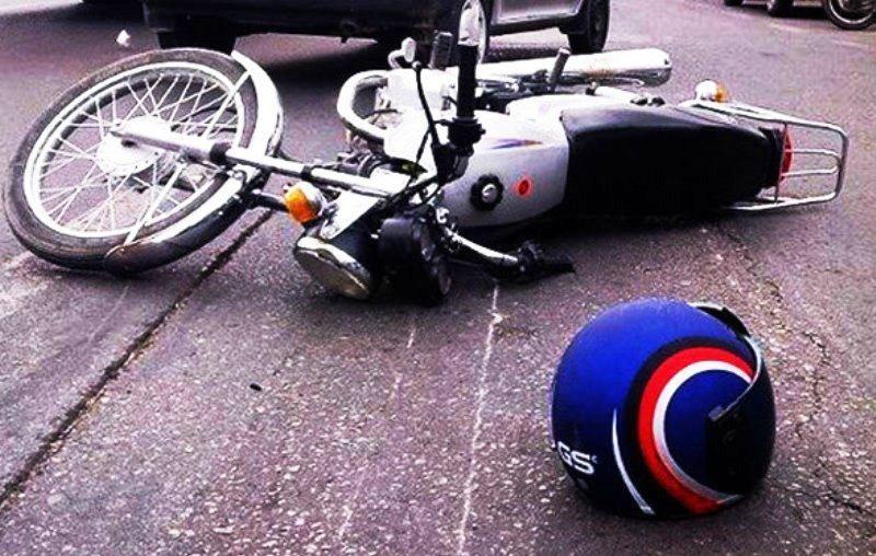 واژگونی موتورسیکلت در اتوبان حقانی