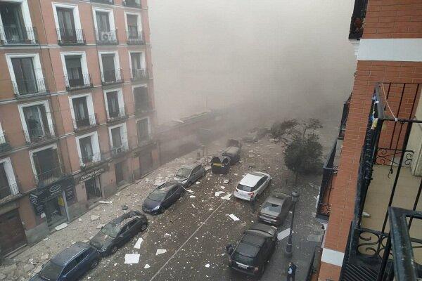 انفجاری مهیب در مرکز شهر مادرید
