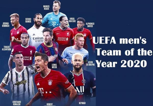 اعلام تیم منتخب یوفا در سال 2020