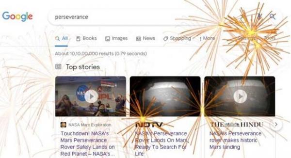 گوگل فرود استقامت در مریخ را جشن گرفت