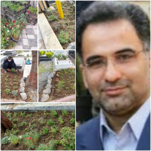 افزایش سرانه فضای سبز درآرامستان باغ بهشت (گله محله) شهرداری بابل