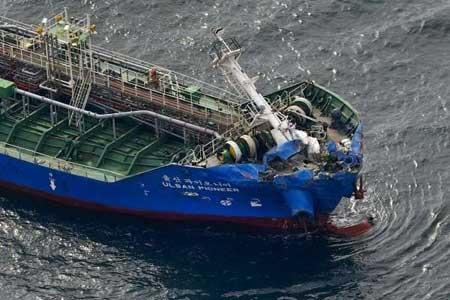 وقوع سانحه دریایی در غرب ژاپن