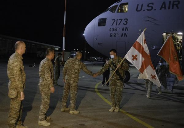 تداوم خروج نظامیان خارجی؛ نظامیان گرجستانی از افغانستان خارج شدند