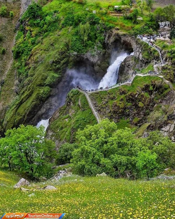 آبشار شلماش ؛ مکانی برای فرار از گرمای تابستان